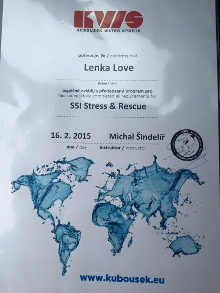 SSI Stress & Rescue certification
