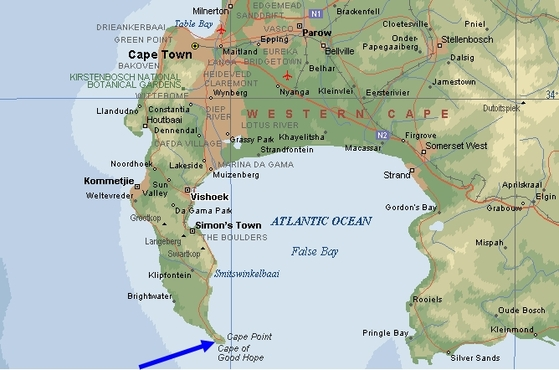 Cape Of Good Hope On World Map, Check Out Cape Of Good ...