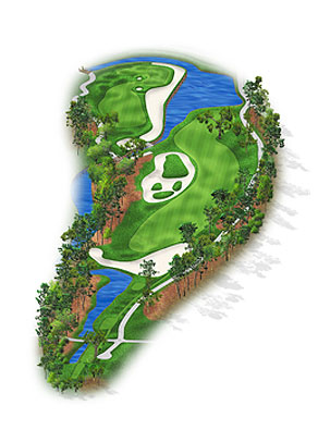 HOLE 11: PAR 5 | YARDS 558 Players are given so many options in the layup areas that they can become befuddled, a dilemma not diminished by the addition of 15 to 20 yards to this hole, during the 2006 renovation. Continuing down the fairway to the right could bring a large oak into play and calls for a demanding third to a shallow green. Crossing the waste areas and water means a tougher second shot but an easier approach. Some hole locations prevent long hitters from gunning for the flagstick with a second shot. Susceptible but daunting.