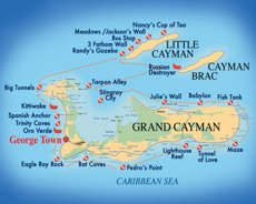 Cayman Islands Best Golf And Diving - Cayman islands cities map